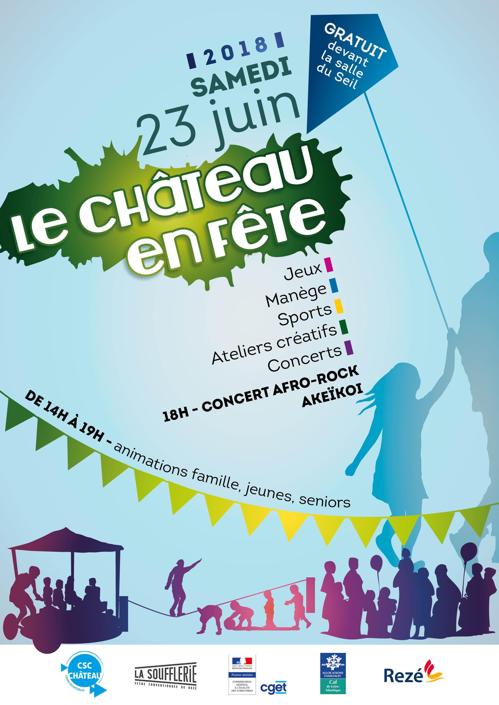 Affiche Fête du Quartier Château 2018