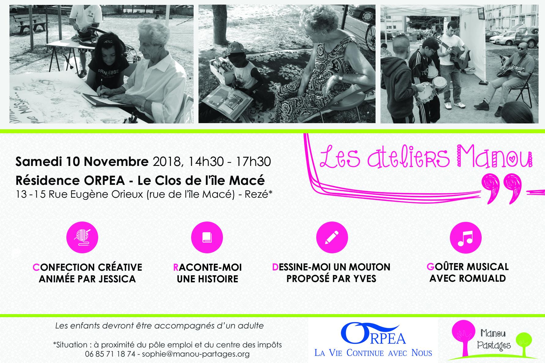 Les Ateliers Manou - Clos de l'île Macé - ORPEA Rezé - 10/11/2018
